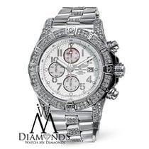 Breitling Custom Diamond Breitling Super Avenger A13370 White...