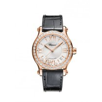 Chopard Ladies 274808-5003 Happy Sport Auto Rose-Gold and...