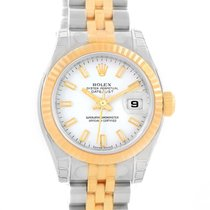 Rolex Datejust Ladies Steel Yellow Gold White Dial Watch...