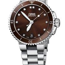 Oris Aquis Date Diamonds, Brown, Ceramic Top, Steel