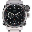 Oris BC4 Flight Timer GMT Stahl Automatik Stahlband 43mm
