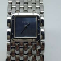 Cartier PANTHERE RUBAN VERY RARE MOTHER OF PEARL BLUE DIAL