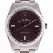 Rolex Oyster Perpetual Stahl Red Grape Automatik Armband...