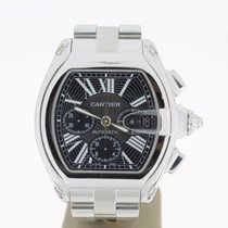 Cartier Roadster XL Steel Chrono BlackDial (B&P2009) MINT...