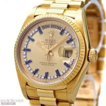 Rolex Vintage Day-Date Diamons-Sapphire Dial Single Quick...