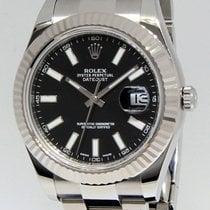 Rolex Datejust II Stainless Steel 18k White Gold Mens Watch...