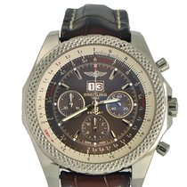 Breitling Bentley 6.75 Speed Stainless on Leather Strap