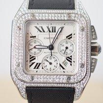 Cartier Santos 100 XL Chronograph Steel Diamond Set