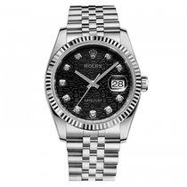 Rolex Datejust 36 mm Steel 116234 black jubilee 10 diamonds