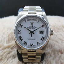 Rolex DAY-DATE 18039 with Original White Raised Roman Dial...