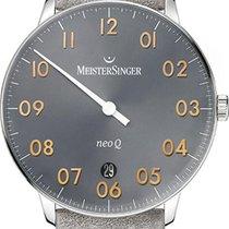 Meistersinger NeoQ NQ907GN Einzeigeruhr Mit Wechselband