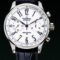 Paul Picot GENTLEMENT chronograph strapskin blue dial white