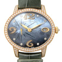 Girard Perregaux Cats Eye 18 K Rose Gold With Diamonds Blue...