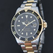 Rolex Oyster Perpetual Date Submariner Gold / Steel Black