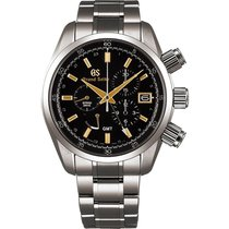 Seiko Spring Drive Chronograph Men's Titanium Watch SBGC205