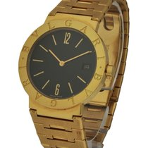 Bulgari BB33GGD - in Yellow Gold - on Bracelet with Black Dial
