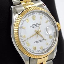 Rolex Datejust Jubilee Two Tone 18k Yellow Gold & Ss White...