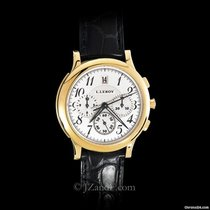 L.Leroy Men's Watch Osmior 18K Yellow Gold Chronograph