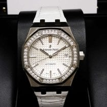 Audemars Piguet 15451ST Royal Oak Lady White Dial Automatic...