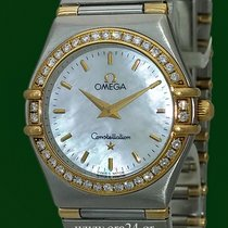 Omega Constellation 18k Yellow Gold Steel Mother Of Pearl...