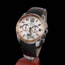 Cartier Calibre de Cartier Chronograph Steel and Gold Automatic