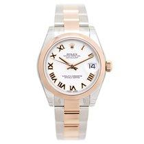 勞力士 (Rolex) Lady Datejust 18k Rose Gold And Steel White...