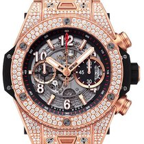 Hublot Big Bang Unico King Gold Pave 45mm Automatic Chronograph