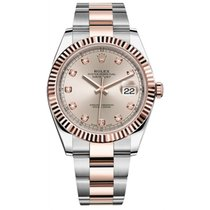 Rolex Datejust II Steel and Rose Gold Sundust Diamond Dial 41mm