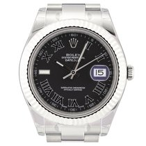 Rolex Datejust II Black Roman 116334