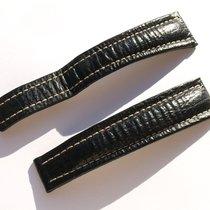 Breitling Xl Band 22mm Hai Schwarz Black Shark Strap Correa...