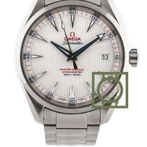 Omega Seamaster Aqua Terra 150 golf edition silver blue hands