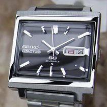 Seiko Actus Mens Automatic Day Date Japanese Vintage Stainless...