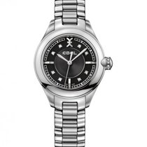 Ebel Onde Steel, Black Dial with Diamonds, 12 Diamond Crown