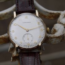 Longines 9ct Solid Gold Vintage sub seconds Longine bubble...