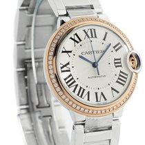 Cartier Ballon Bleu 18KT RoseGold Diamonds Auto Women Watch...