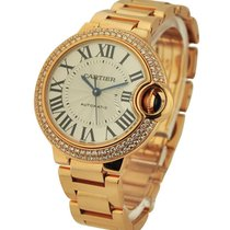 Cartier WE902064 Ballon Bleu 33mm with Diamond Bezel - Rose...