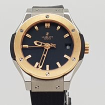 Hublot Classic Fusion Quartz Titanium /18K Rose Gold Ladies
