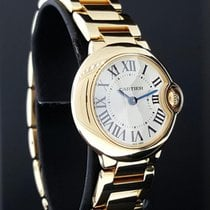 Cartier Ballon Blue Ladies 28mm Watch 18k Yellow Gold Ref....