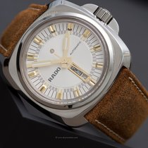 Rado HYPERCHROME THREE HANDS 1616 Leather Brown Strap Dial Silver
