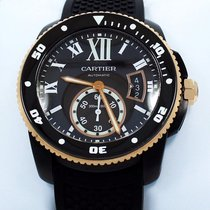 Cartier Calibre De Diver W2ca0004 Adlc 42mm Auto 18k Rose Gold...
