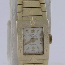 Incabloc Ladies 14k Yellow Gold Vintage Altair  Diamond Cut...