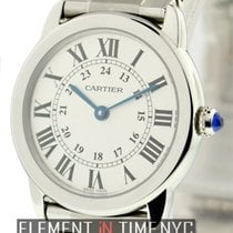 Cartier Ronde Solo Collection Stainless Steel Silver Dial...