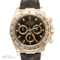 Rolex Daytona 116519 Whitegold Leather Black Dial B+P 07/2015