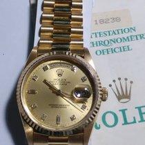 Ρολεξ (Rolex) 勞力士 (Rolex) 18k Day-Date Diamond Dial Ref: 18238