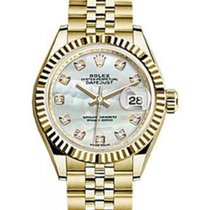 Rolex Datejust 28 279178 White Mother of Pearl Diamond Fluted...