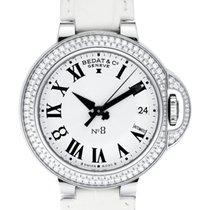 Bedat & Co No. 8 Stainless Steel Diamond Bezel Ladies Watch