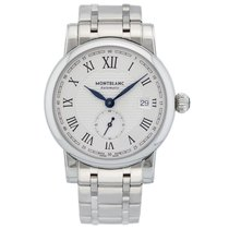 Montblanc Star Automatic Silvery White Guilloche Dial Stainles...