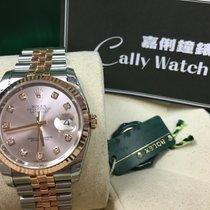 Rolex Cally - 116231 G 36mm Datejust RG & Steel Pink...