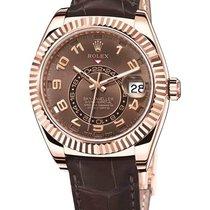 Rolex Sky Dweller Brown Dial GMT 18k Rose Gold  326135