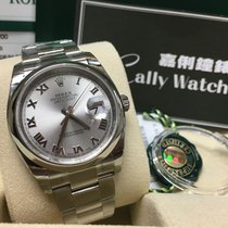 Rolex Cally - 116200 36mm Oyster Datejust Silver Roman Dial [NEW]
